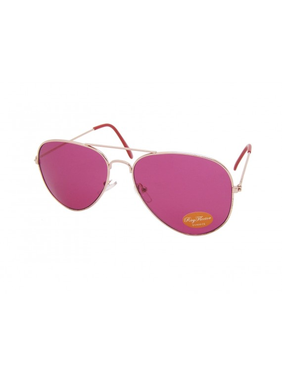 Colored Lens Classic Aviator Sunglasses , Asst