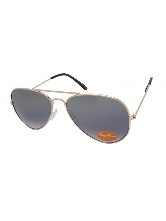 Slightly Flash Coloured Lens Aviator Sunglasses, Metal Frame Asst(Big size)