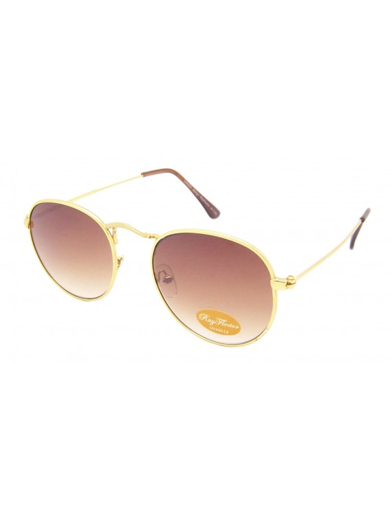 Roundish Colour Lens Sunglasses, Asst