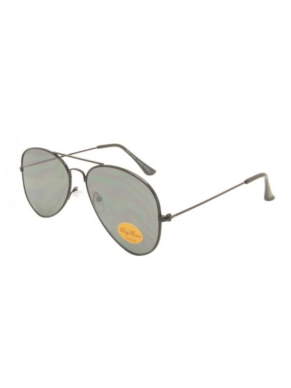 Juan Top Gun Aviator Sunglasses, Flat Lens Asst