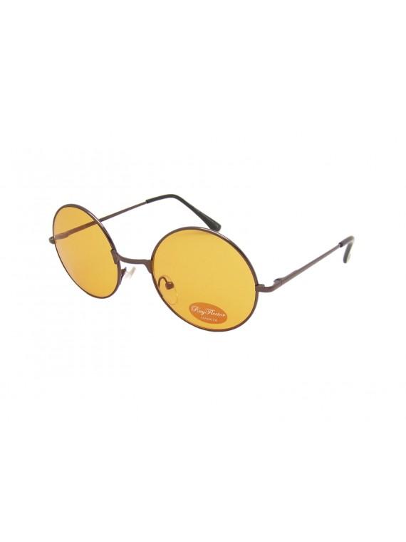Navas Round Colored Lens John Lennon Style Sunglasses, Lens Asst