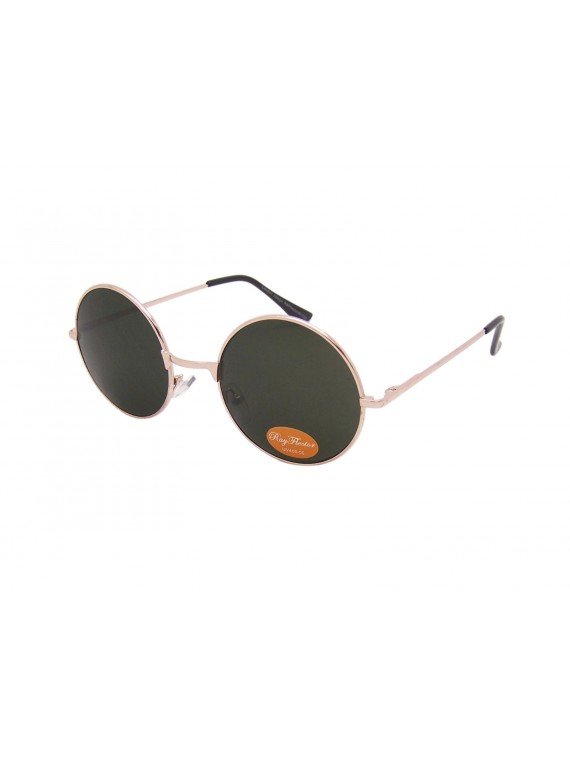 Malagi Round Green Lens John Lennon Style Sunglasses