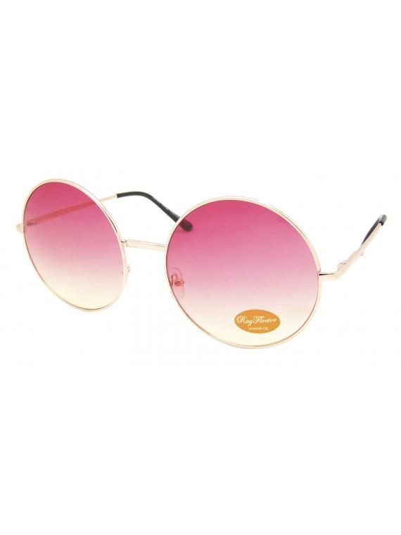 Pozo Big Round 2 Tones Colour Lens Sunglasses, Asst
