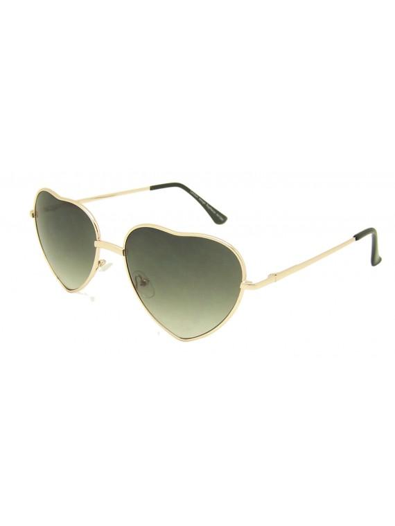 Classic Heart Shape Metal Frame Sunglasses Assorted(Version 1)