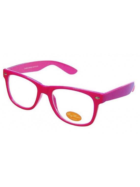Darrio Colorful Frame Modern Wayfarer Sunglasses, Clear Lens Asst