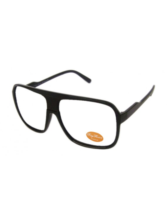 Corva Ovesized Flat Top Aviator, Clear Lens Asst