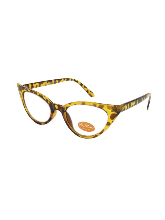 Inov Cat Eyes Vintage Remade Sunglasses, 2 Colors Clear Lens Asst