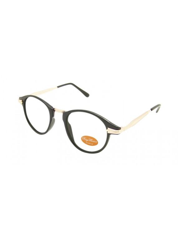 Takass Metal Temple Vintage Sunglasses, Clear Lens Asst