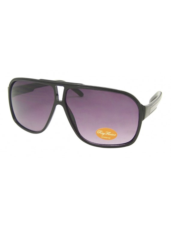 Aldea Flat top Plastic Aviator Sunglasses, 5 Colors Asst