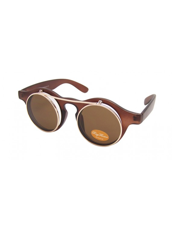 Paco Round Flap Vintage Remade Sunglasses, Normal Lens Asst