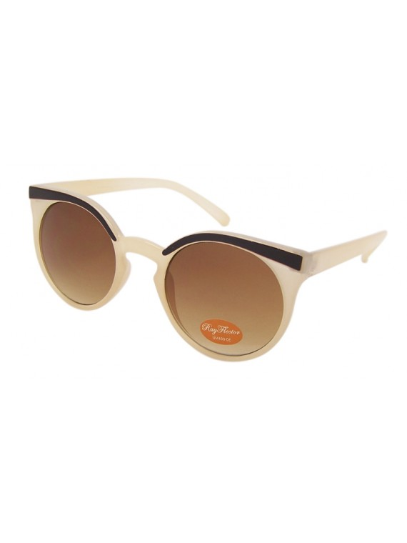 Sabinra Round Eyebrow Cosy Fit Sunglasses, 5 Colours Asst