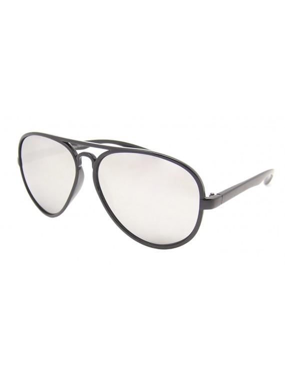 Hopkins Round Plastic Aviator Sunglasses, Asst