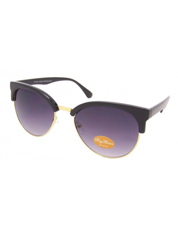 Women Curved Clubmaster Sunglasses, Normal Lens Asst