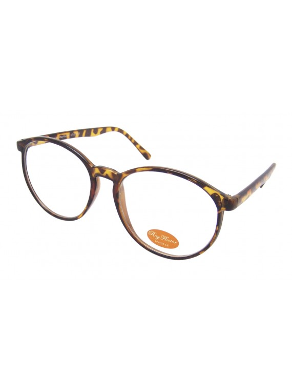 Movia Round  Sunglasses, Black And Tortoise Shell Clear Lens Asst