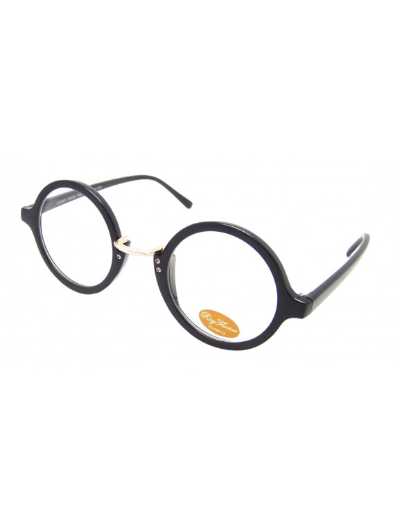 Round Sunglasses, Black And Tortoise Shell Clear Lens Asst