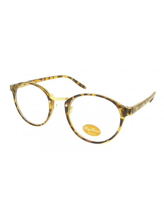 Apolora Retro Round With Bits Sunglasses, Clear Lens Asst
