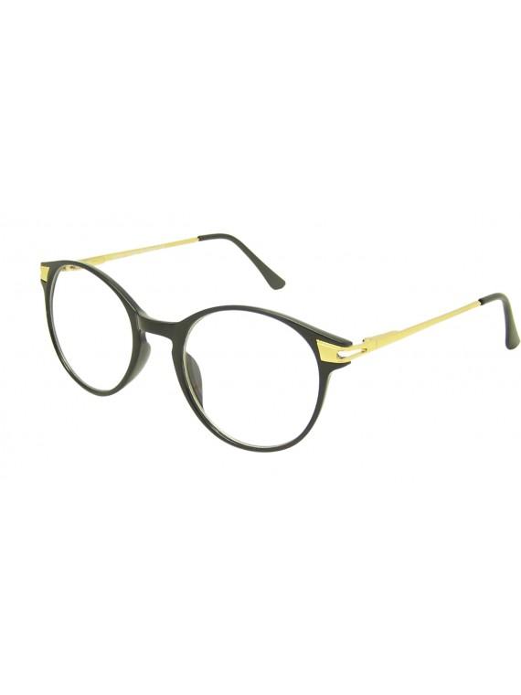 Rolina Retro Round Shape Sunglasses, Clear Lens Asst