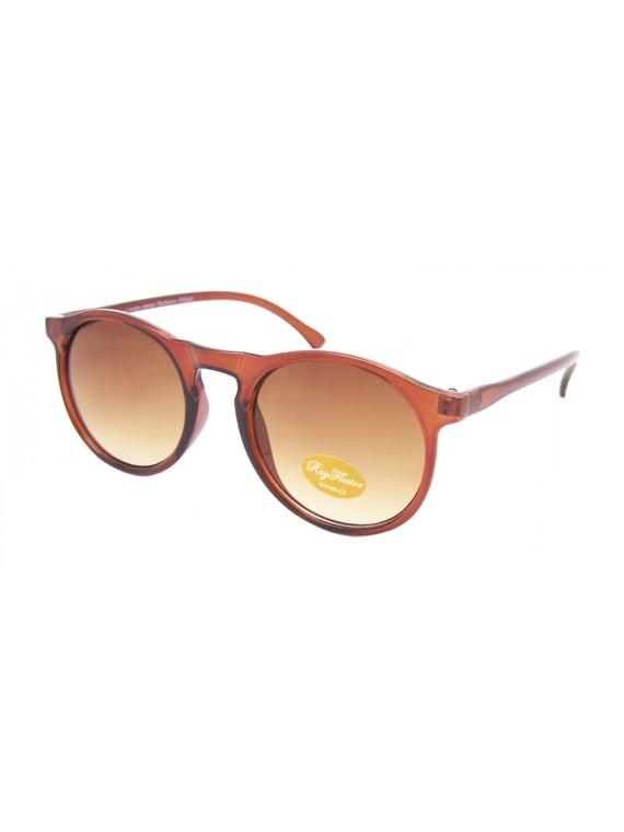 Pensio Round Retro Frame Sunglasses, Asst