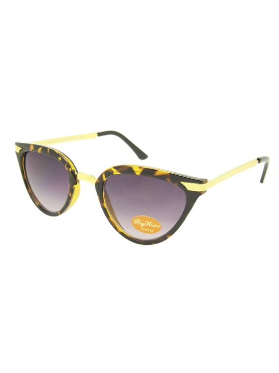Chaoli Cat Eye With Metal Arms Sunglasses, Asst