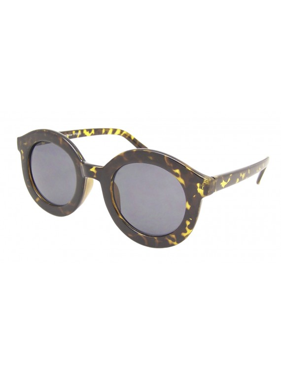 Bozis Round Vintage Remade Sunglasses, Normal Lens Asst