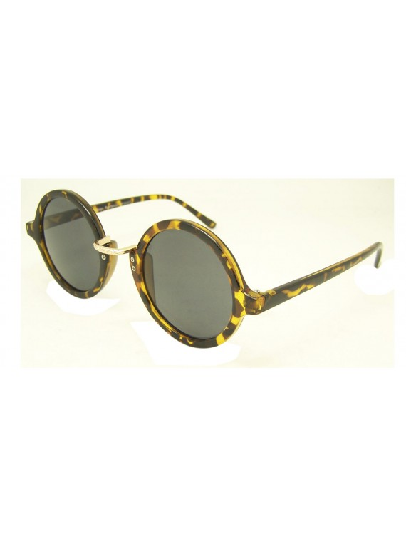 Lori Vintage Round With Metal Sunglasses, 5 Colours Asst