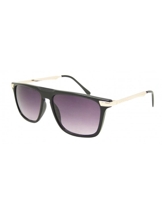 Normak Flat Top Metal Arm Sunglasses, Asst