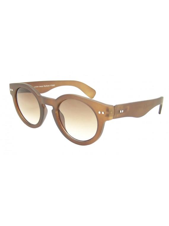 Judie Round Spring Hinge Vintage Remade Sunglasses, Rubber Matt Asst