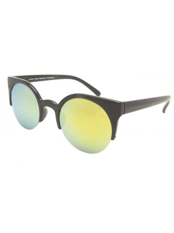 McDonald Round Lens Vintage Sunglasses, Mirrored Lens Asst