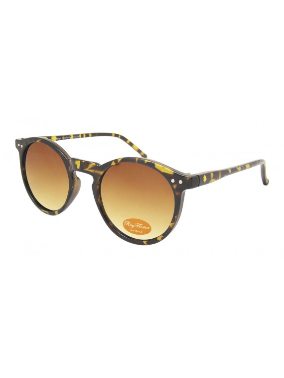 Oroze Round Lens With Metal Spots Vintage Sunglasses, Demi Brown(Brown Gradient Lens)