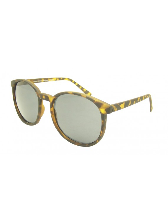 Eva Round Medium Size Vintage Sunglasses, 5 Colours Asst