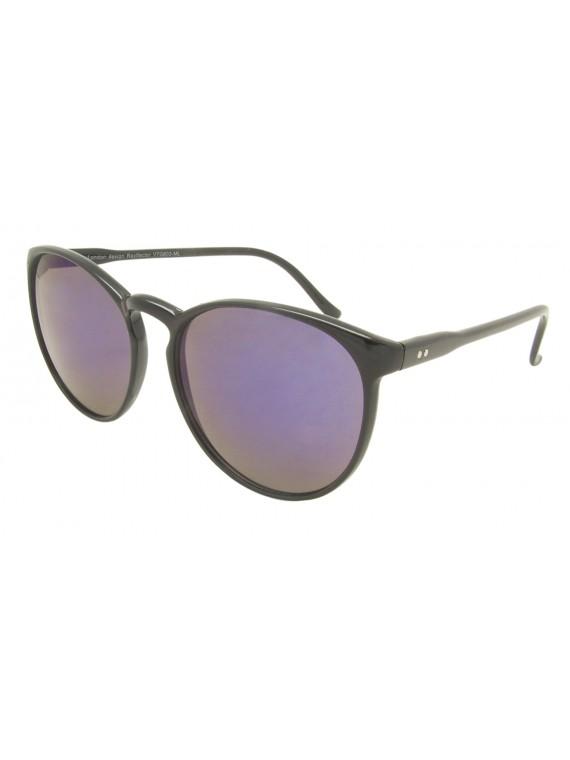Mimori Round Oversized Sunglasses, Mirrored Lens Asst