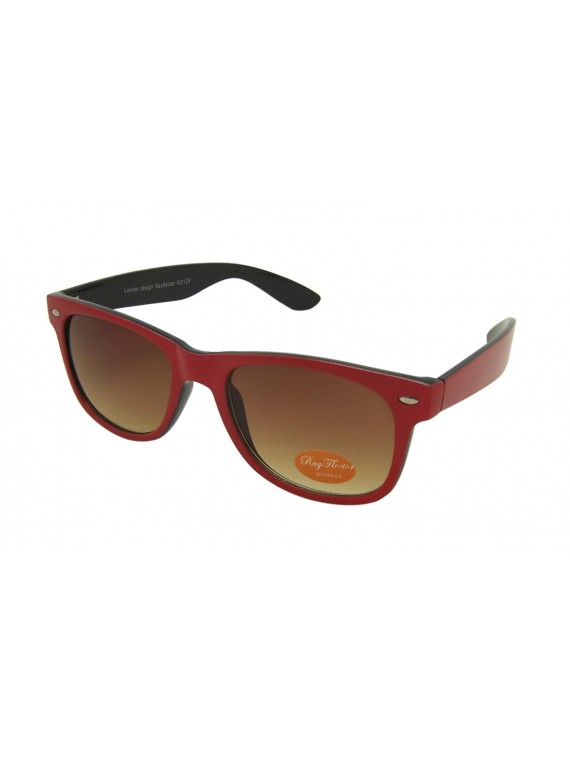 Classic Modern Wayfarer Style Sunglasses, Double Solid Color Asst