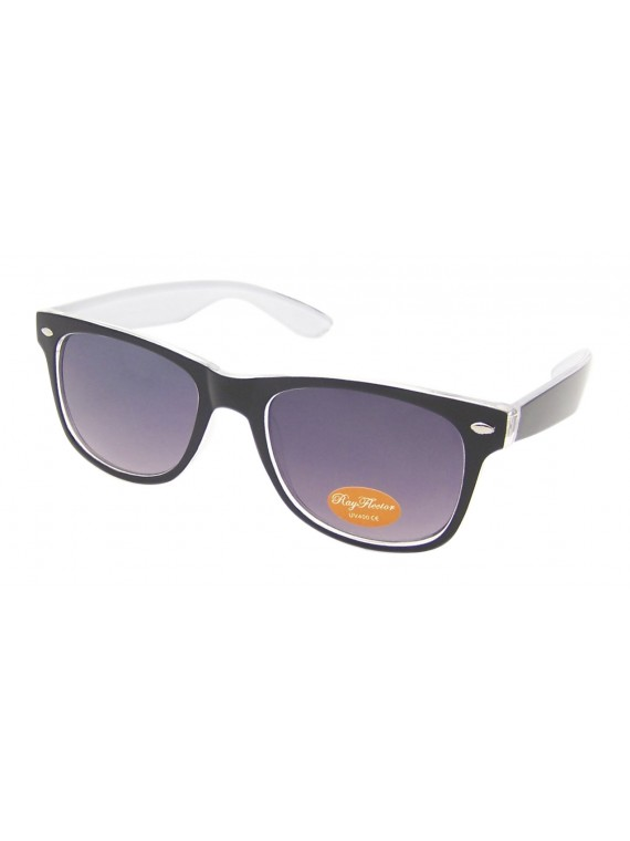 Classic Modern Wayfarer Sunglasses, Two Tones Transparent Colors Asst