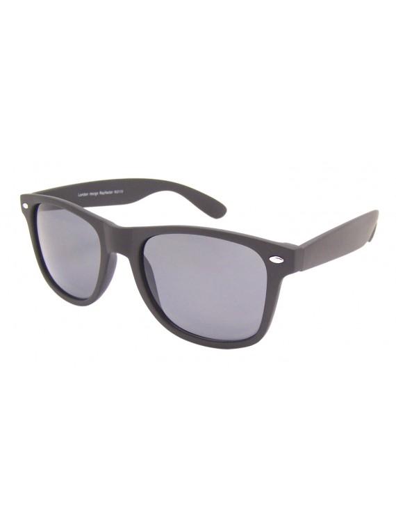 Medium Size Wayfarer Style Sunglasses, Rubber Matt Black(Whole Black Lens)