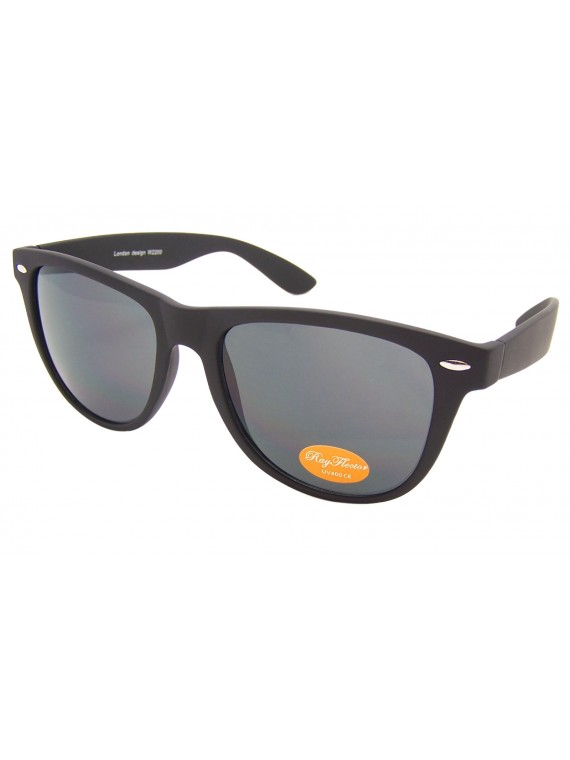 Classic Wayfarer Sunglasses, Rubber Matt Black(Whole Black Lens) - Bigger Size