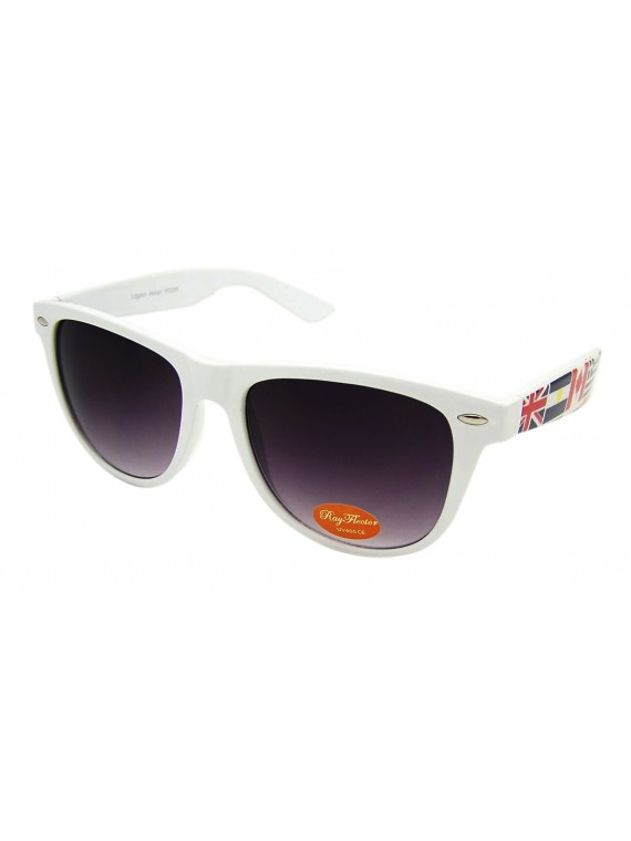 Classic International World Map Union Jack  Wayfarer Sunglasses, Asst