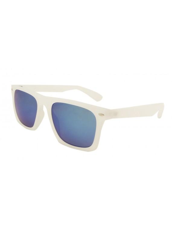 Ronnie Flat Top Fashion Sunglasses, Mirrored Lens Asst