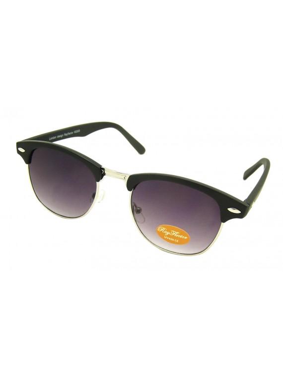 Classic Clubmaster Sunglasses, Rubber Matt Asst