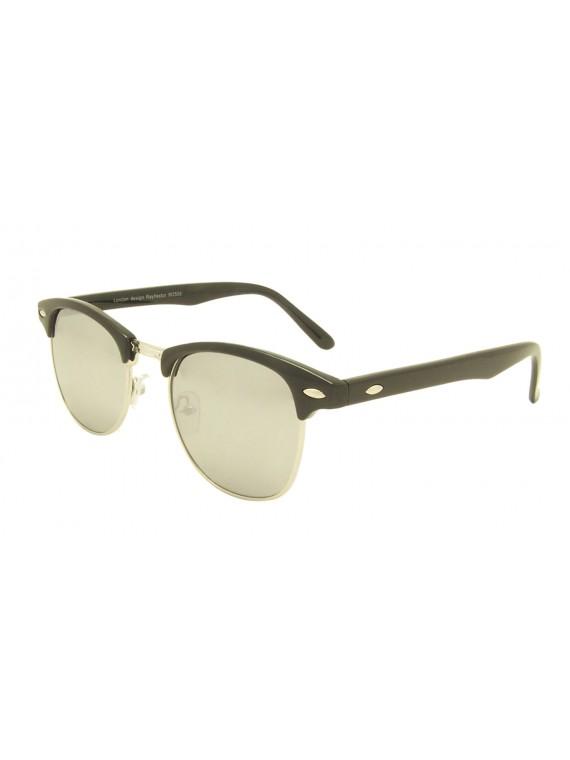 Classic Clubmaster Sunglasses, Color Mirror Lens Asst