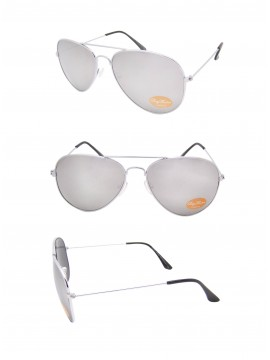 Classic Aviator Sunglasses Silver, Black tips