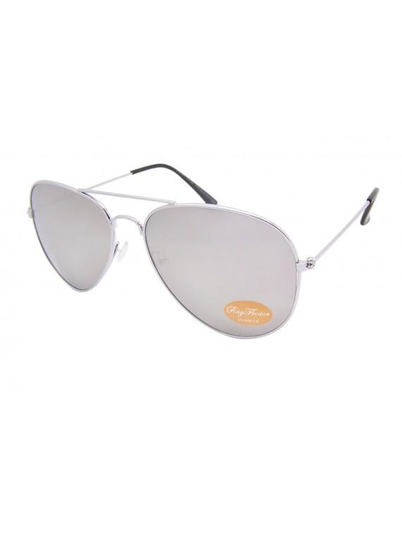 Classic Aviator Sunglasses Silver, Black tips