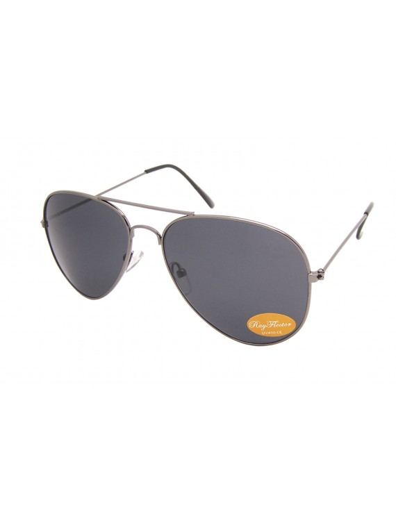 Classic Aviator Sunglasses Gun Frame, 2 color Asst