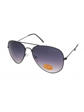 Deli Black Color Frame Aviator Sunglasses, Small Size