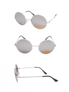 Vichees Round Silver Mirrored Lens/Silver Frame John Lennon Sunglasses