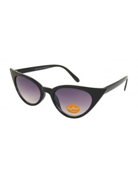 Urbum Happy Cat Eye Sunglasses, Black