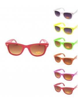 Lucina Colorful Frame Wayfarer Style Sunglasses, Asst Set 2