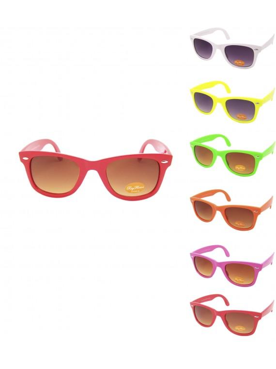 Lucina Colorful Frame Wayfarer Style Sunglasses, Asst Set 2