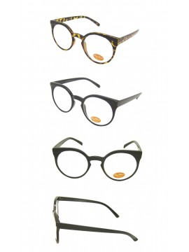 Alila Round Clear Lens Sunglasses, 2 Colors Asst