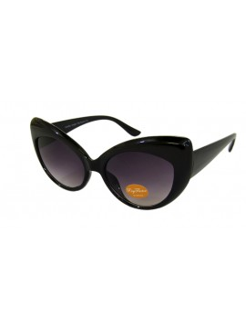 Chekee Cat Eye Sunglasses, Black