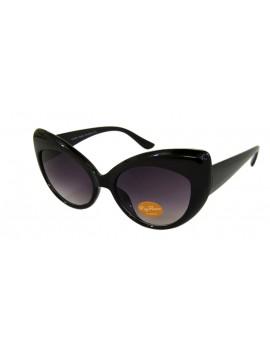 Chekee Cat Eye Sunglasses, Black